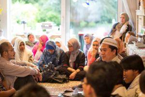 Semoangat dan antusias mendengarkan nesehat Ramadhan